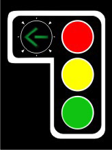 P1 and P2 safe road usage traffic lights